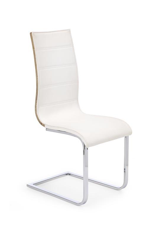 K104 jedálenská stolička biela/sonoma