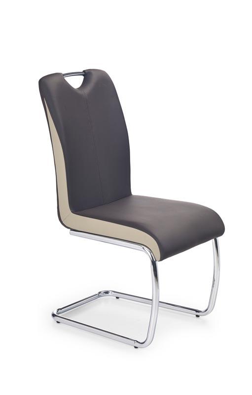 K184 stolička tmavo hnedá/champagne