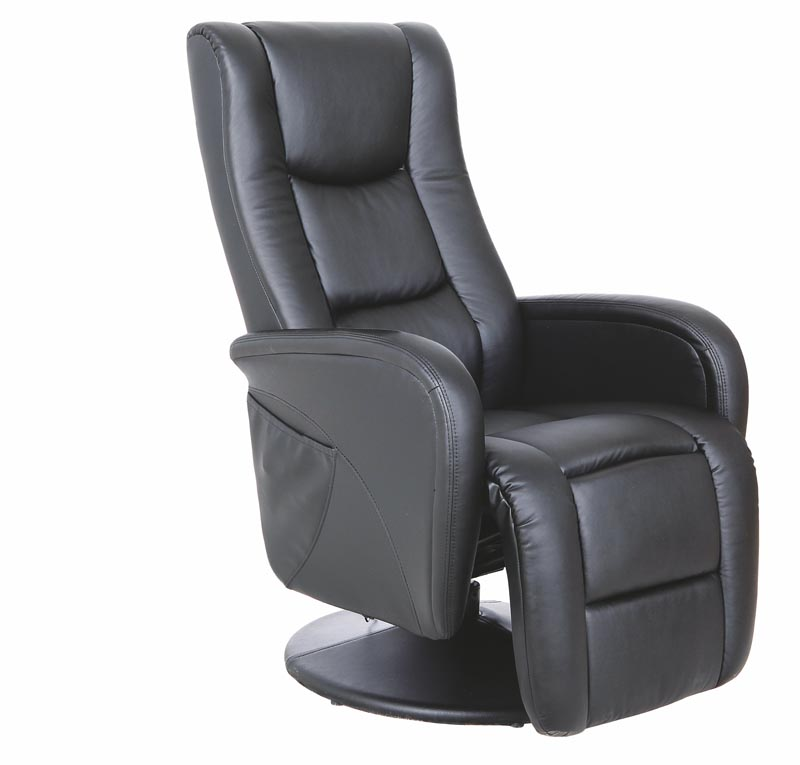 PULSAR relaxačné kreslo, čierna