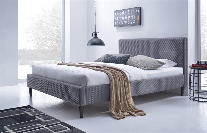 FLEXY postel čalúnená šedá
