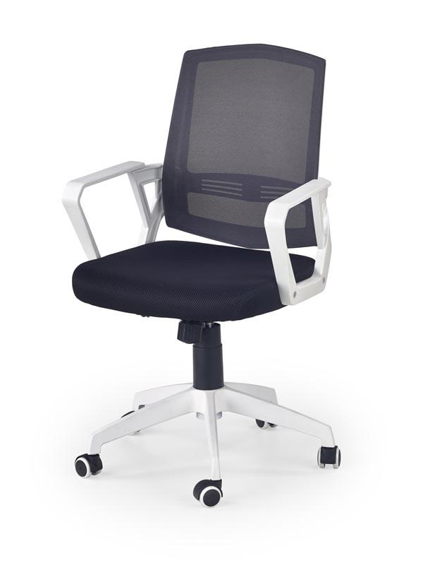 ASCOT kancelárska stolička čierno-šedo-biela