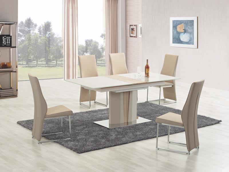 CAMERON stôl rozkladací champagne / dub sonoma