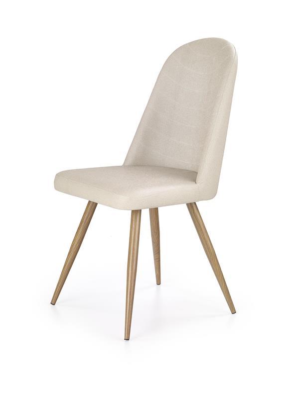 K214 stolička tmavo krém / dub medový
