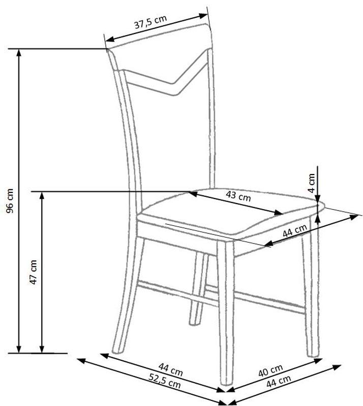 CITRONE jedálenská stolička antická čerešňa II / mesh 1