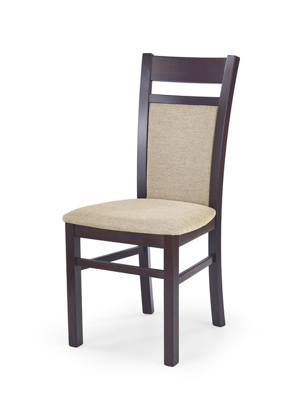 GERARD2 stolička tmavo orech / tap: Torent Beige