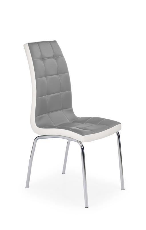K186 stolička šedo - biela