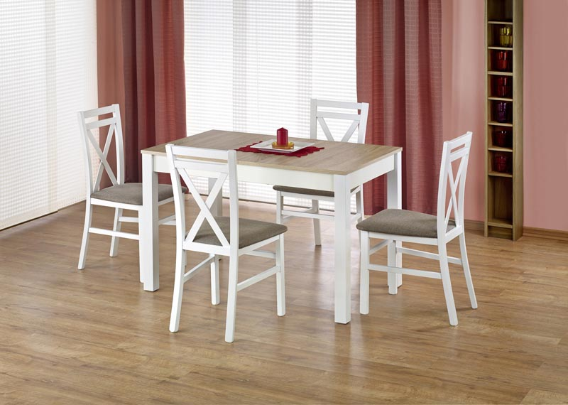 MAURYCY stôl farba dub sonoma / biely