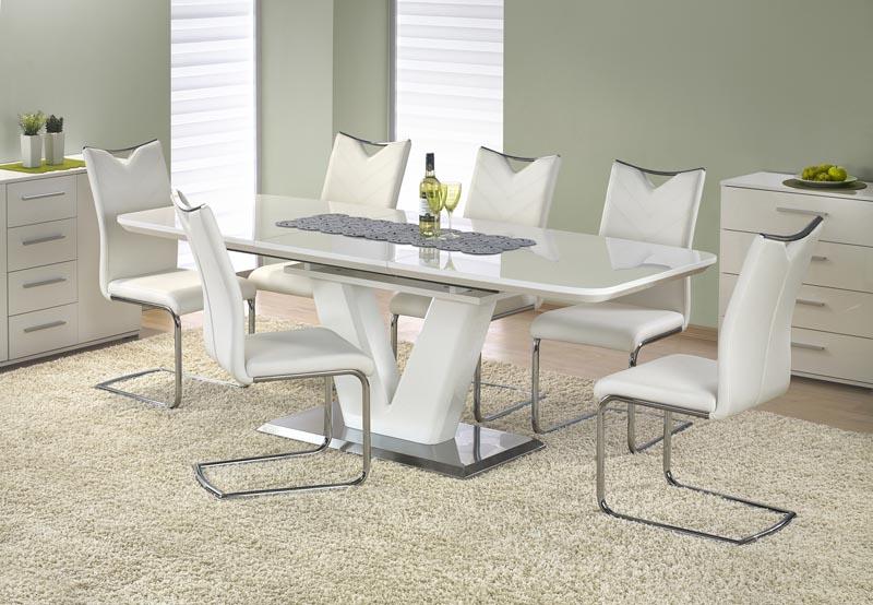 MISTRAL stôl biely lesk