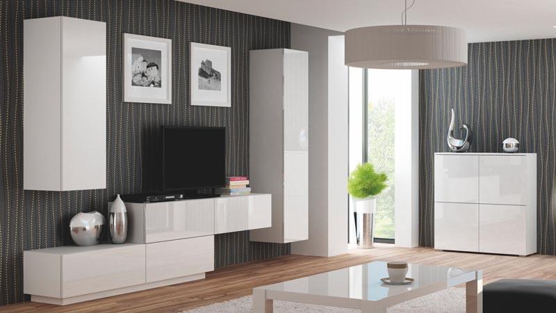 LIVO RTV-160W závesná TV- komoda, biela
