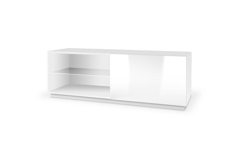 LIVO RTV-120S stojacia TV- komoda, biela