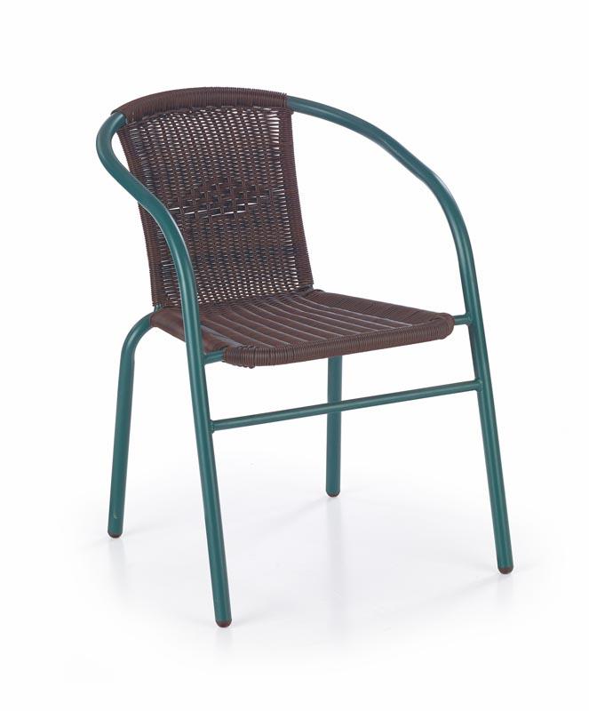 GRAND 2 stolička tmavozelená / tmavo hnedá