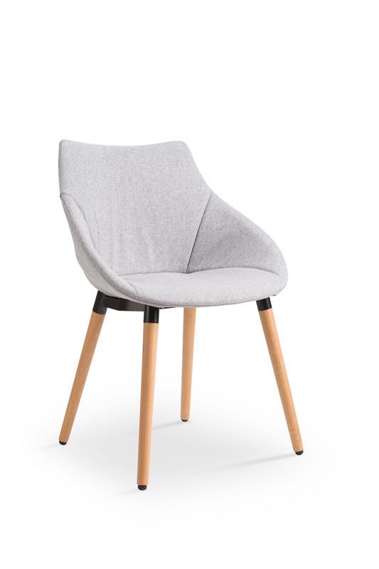 K226 stolička svetlo šedá