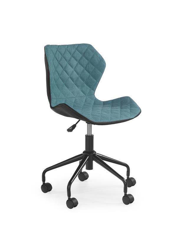MATRIX detská stolička čierna / tyrkysová