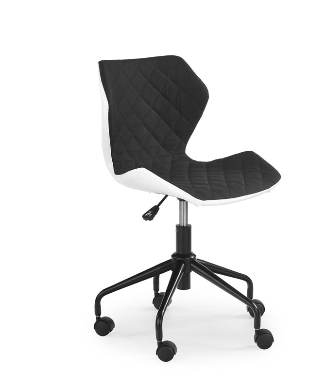 MATRIX detská stolička biela/čierna