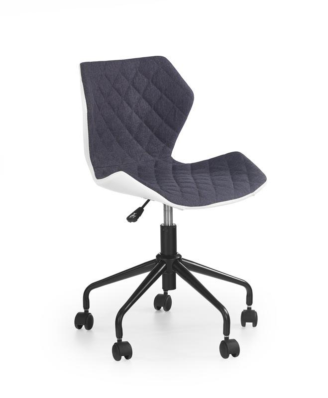 MATRIX detská stolička biela / šedá
