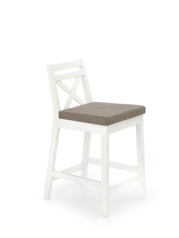 BORYS LOW stolička barová nízka biela / tap. Inari 23