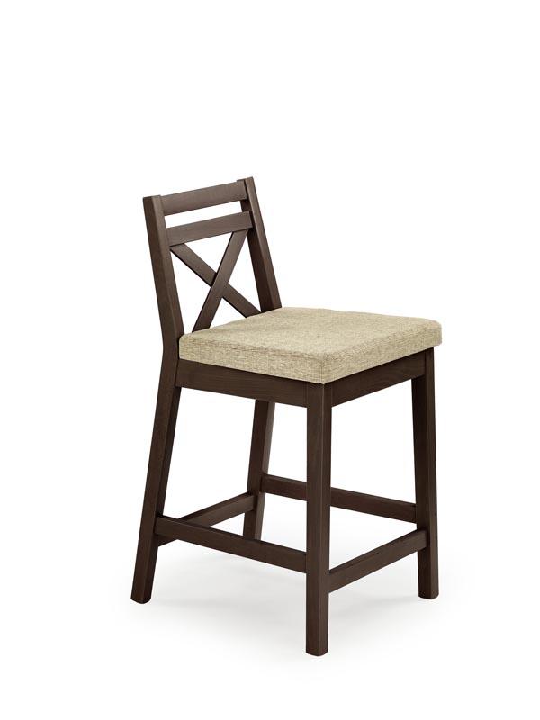 BORYS LOW stolička barová nízka tmavý orech / tap. Vila 2