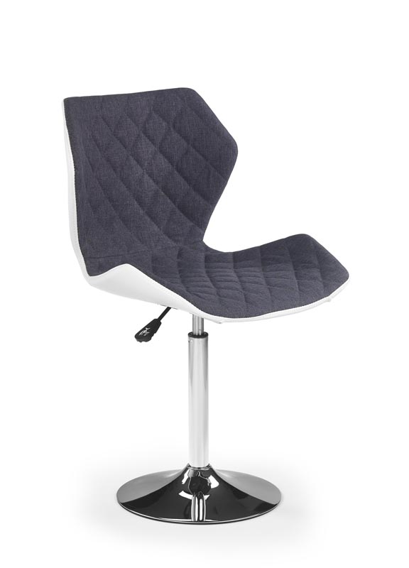 MATRIX 2 stolička bielo-šedá