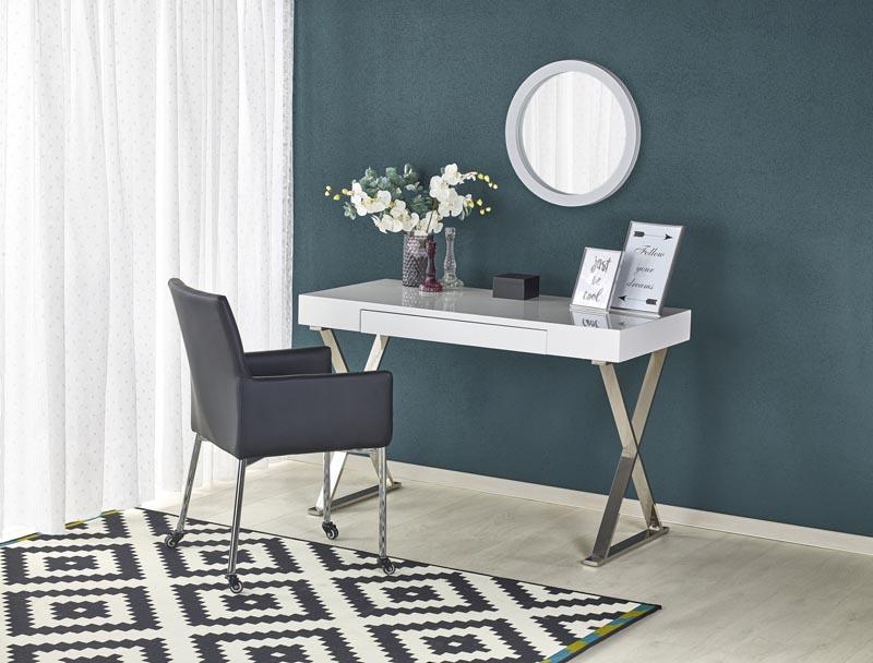 B31 PC stôl biely-chróm