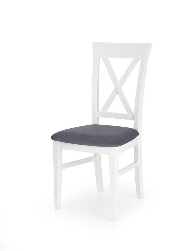 BERGAMO stolička bielo-granatowá