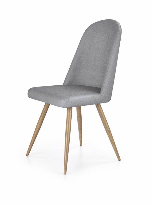 K214 jedálenská stolička, šedá / medový dub