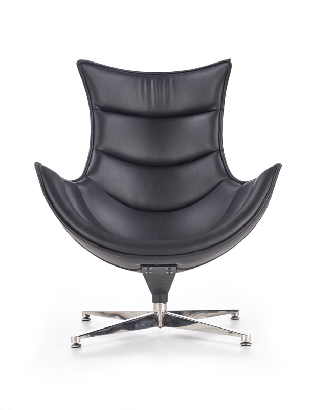 LUXOR relaxačné kreslo, čierna