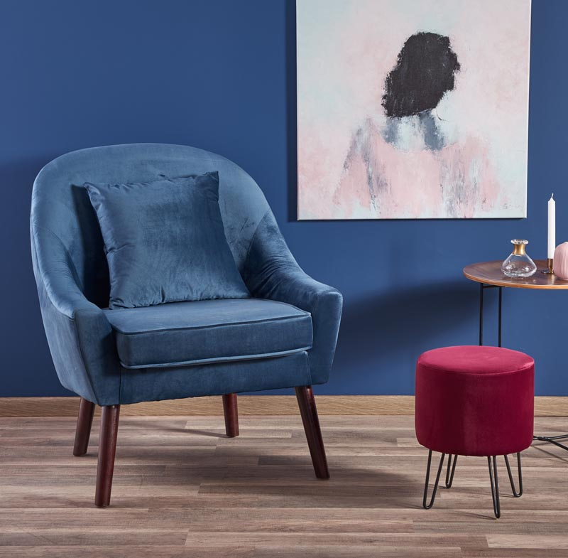 OPALE relaxačné kreslo, tmavo modrá