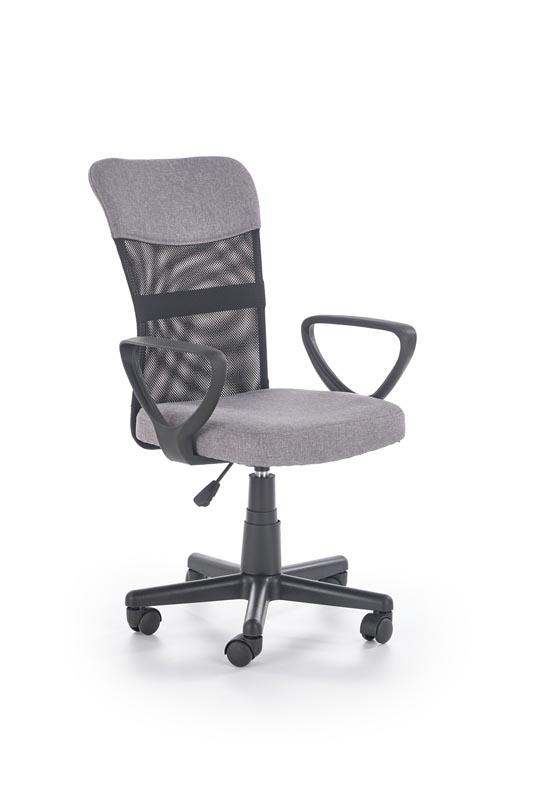 TIMMY kancelárska stolička, šedá / čierna