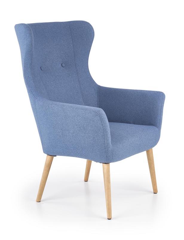 COTTO relaxačné kreslo, modrá - NA SKLADE!