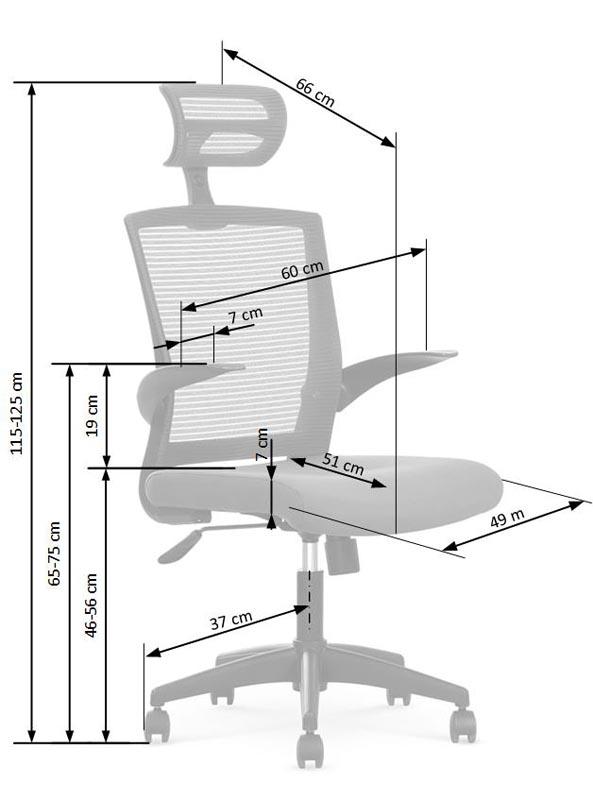 VALOR kancelárska stolička, čierna / šedá