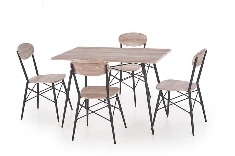 KABIR obdľžnik, stôl + 4 stoličky