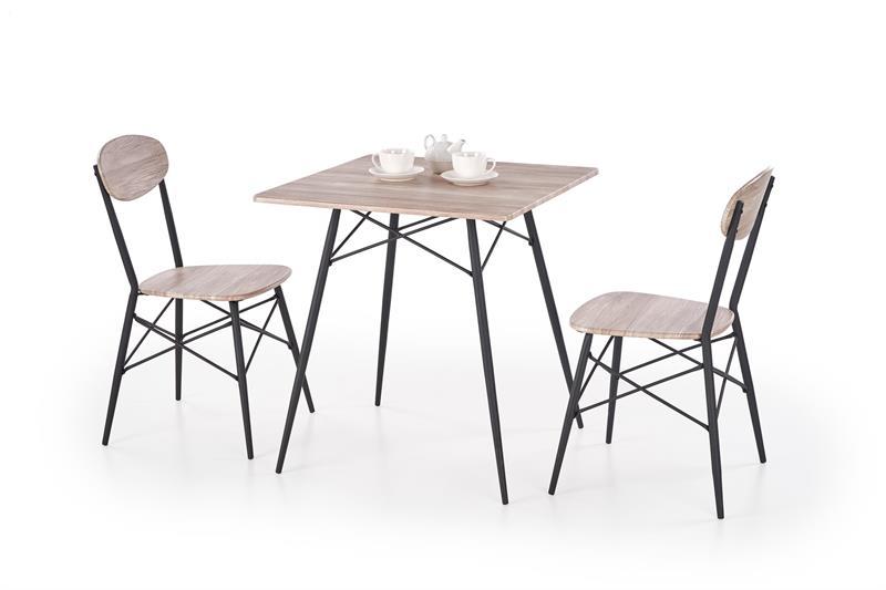 KABIR štvorec, stôl + 2 stoličky