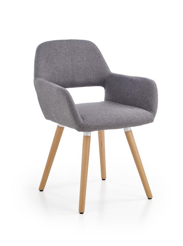 K283 jedálenská stolička, šedá