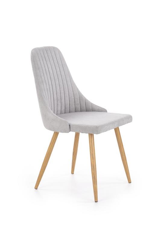 K285 jedálenská stolička, svetlo šedá