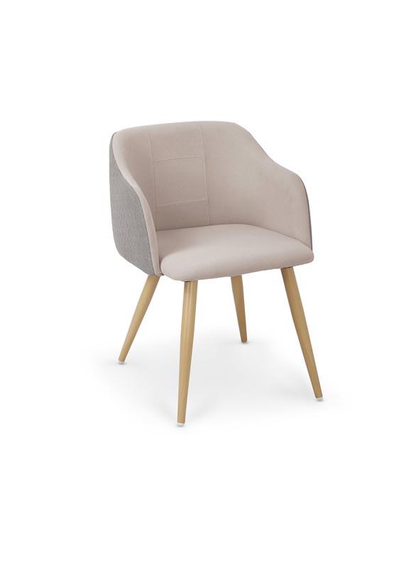 K288 jedálenská stolička, svetlo šedá / béžová