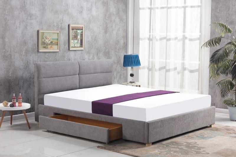 MERIDA posteľ, svetlo šedá