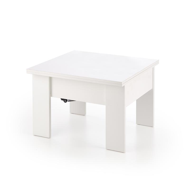 SERAFIN výškovo nastavitelný konferenčný stolík, biela