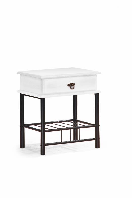FIONA nočný stolík biela/čierna