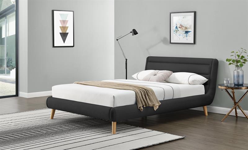 ELANDA 140 posteľ, tmavo šedá
