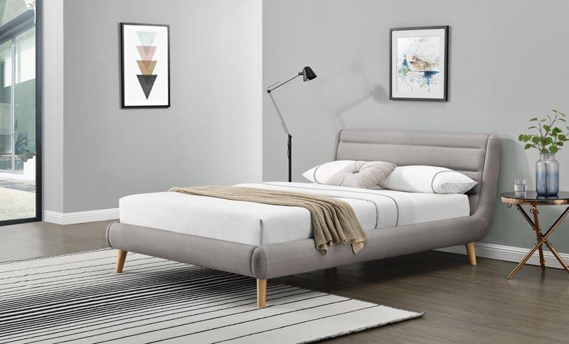 ELANDA 140 posteľ, svetlo šedá