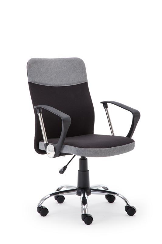 TOPIC kancelárska stolička, čierna / šedá