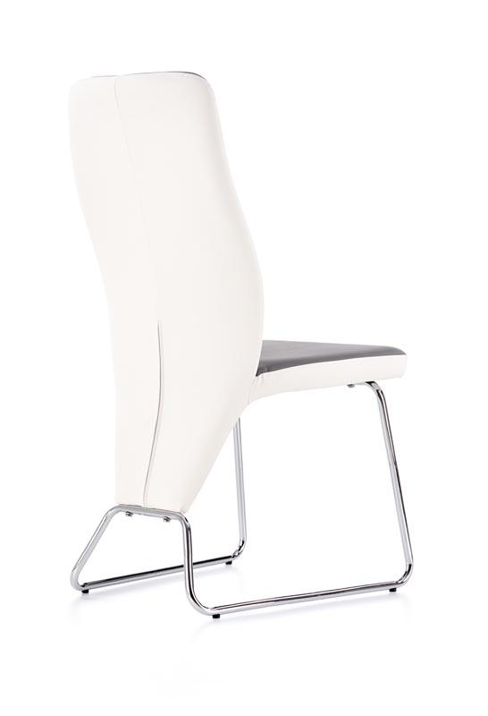 K299 jedálenská stolička, biela / šedá
