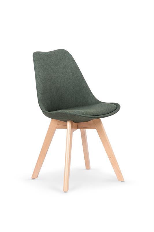 K303 jedálenská stolička, tmavo zelená