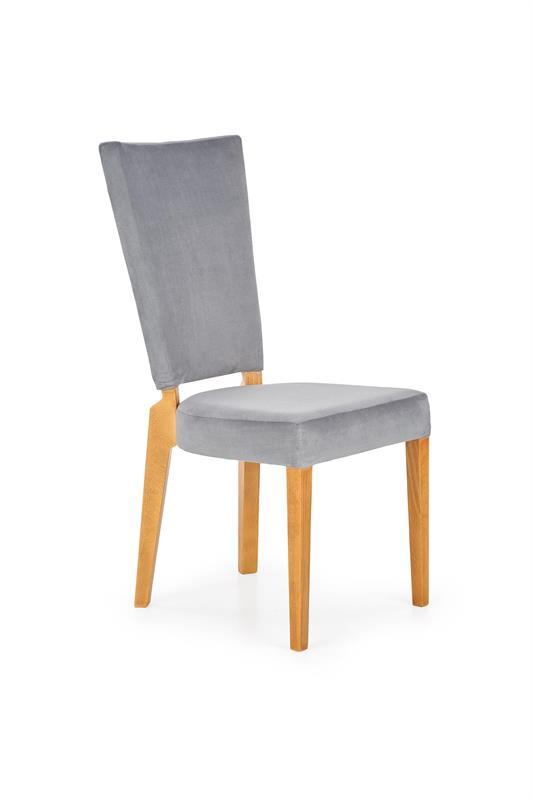 ROIS jedálenská stolička, medový dub / šedá