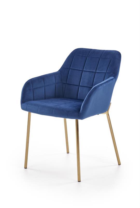 K306 jedálenská stolička, tmavo modrá