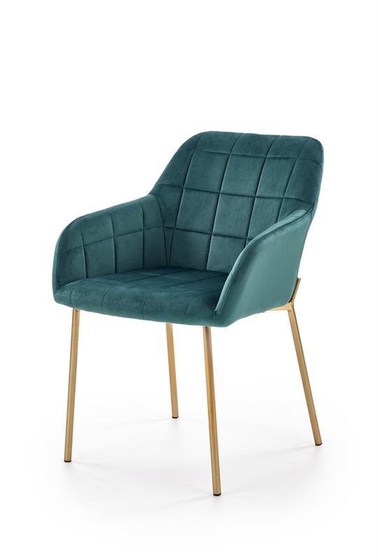 K306 jedálenská stolička, tmavo zelená