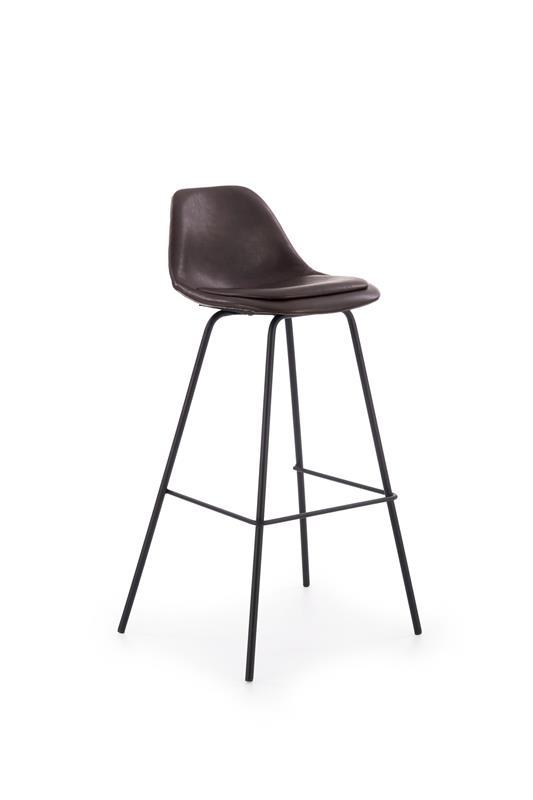 H90 barová stolička, tmavo hnedá