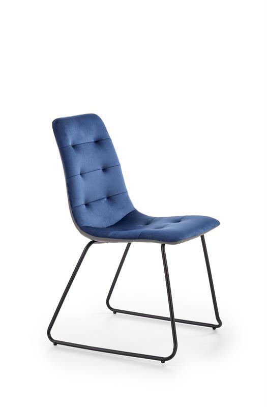 K321 jedálenská stolička, tmavo modrá / šedá