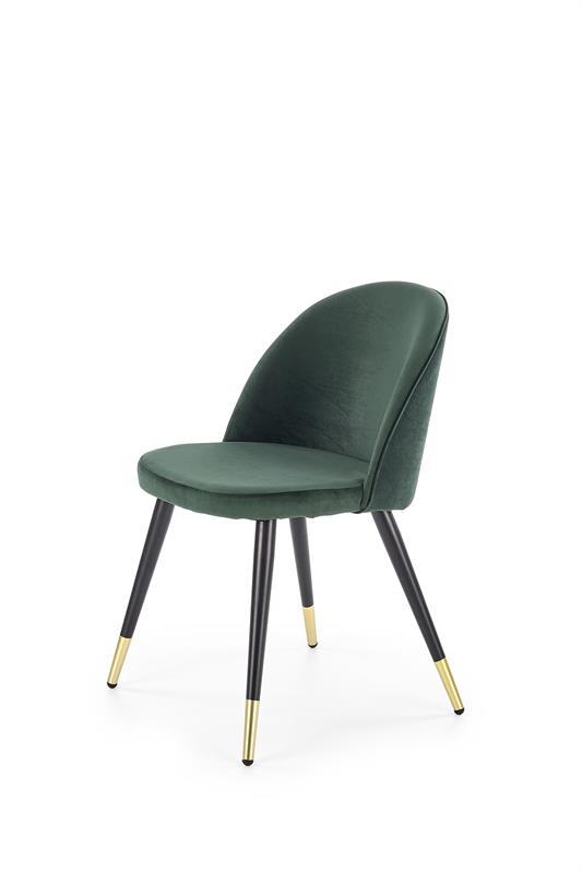 K315 jedálenská stolička, tmavo zelená