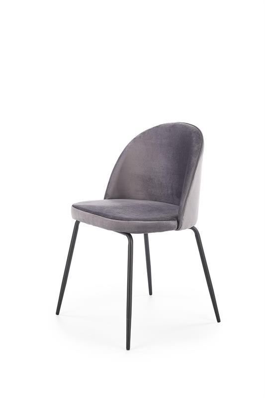 K314 jedálenská stolička, tmavo šedá